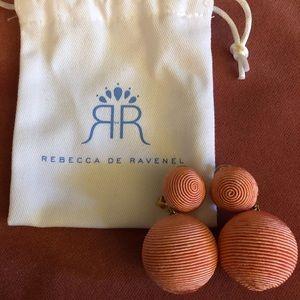 Bon bon peach earrings